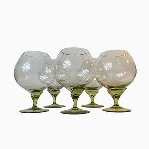 Deutsche Mid-Century Gläser von Rosenthal, 1960er, 5er Set