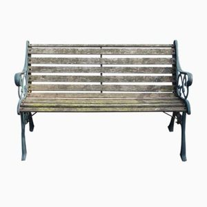 Mid-Century Cast Iron Bench, 1960s