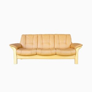 Vintage Scandinavian Modern Leather Sofa from Ekornes, 1980s