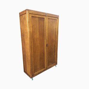 Mid-Century French Oak Wardrobe from Delagrave, 1960s