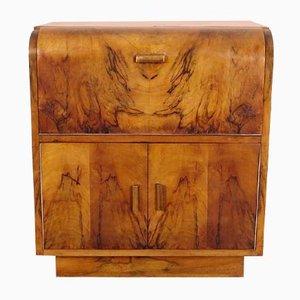 Vintage Art Deco Wooden Cabinet, 1930s