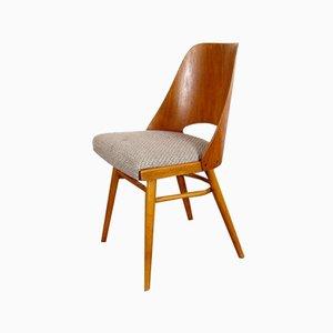 Sedie da pranzo vintage in legno, anni '60, set di 4
