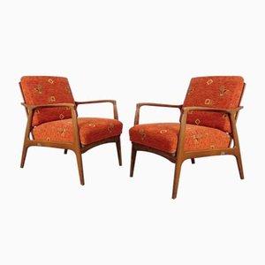 Mid-Century Wooden Armchairs, 1960s, Set of 2