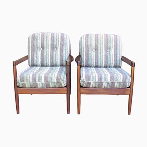Danish Teak Armchairs, 1970s, Set of 2