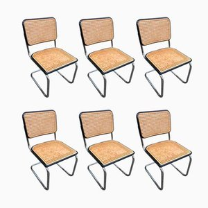 Bauhaus S32 Tubular Steel Dining Chairs by Marcel Breuer for Thonet, 1980s, Set of 6