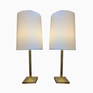 Schwedische Tischlampen aus Messing, 1970er, 2er Set