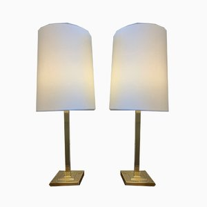 Swedish Brass Table Lamps, 1970s, Set of 2