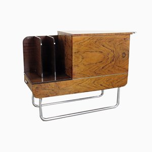 Bauhaus Wood and Tubular Steel Cabinet by Jindřich Halabala for UP Závody, 1930s