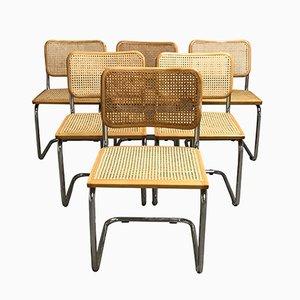 Italienische Vintage Esszimmerstühle von Marcel Breuer, 1970er, 6er Set