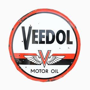Emailliertes deutsches Veedol Motor Oil Schild von Kilmo & Bongartz Hamburg, 1950er