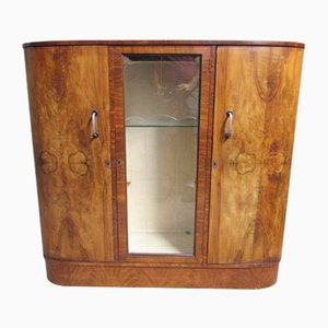 Art Deco Burr Walnut Cabinet, 1930s