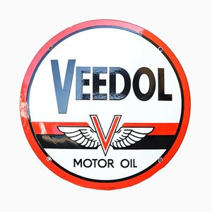 German Veedol Motor Oil Sign from Kilmo & Bongartz Hamburg, 1950s