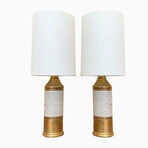 Lampes de Bureau en Céramique par Bitossi pour Bergboms, Suède, 1960s, Set de 2