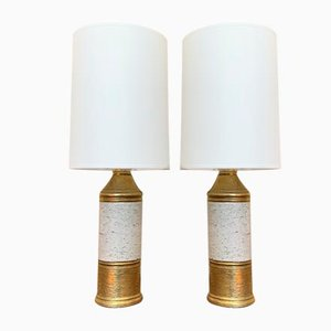 Swedish Ceramic Table Lamps by Bitossi for Bergboms, 1960s, Set of 2