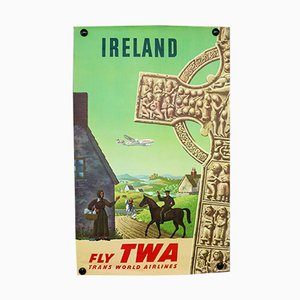 Mid-Century Ireland Poster by S.Greco for TWA, 1950s