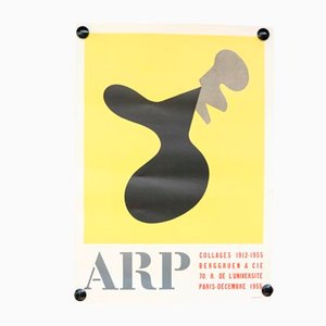 Mid-Century French Hans Arp Exhibtion Poster, 1950s
