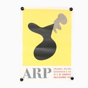 Poster Mid-Century della mostra di Hans Arp, Francia, anni '50