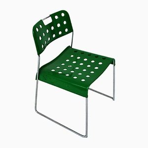 Italian Steel Omksyack Chairs by Rodney Kinsman for Bieffeplast, 1980s, Set of 10