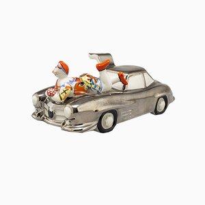Statuetta di automobile in porcellana di Rosemarie Benedikt per Villeroy & Boch, Germania, anni '90