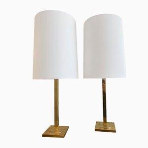 Lampes de Bureau en Laiton de EWA Värnamo, Suède, 1960s, Set de 2