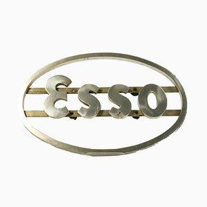 Mid-Century German Aluminum Esso Sign, 1950s
