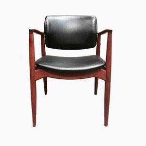 Sedia da scrivania moderna in teak di Erik Buch, Scandinavia, anni '50