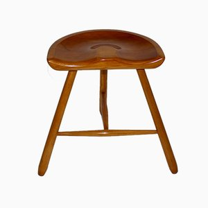 Vintage Viennese Maple Tripod Stool, 1930s