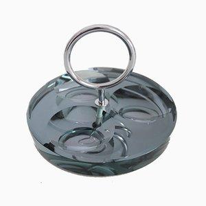 Cenicero o vide-poche de cristal de Fontana Arte, años 60