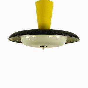 Lampada da soffitto in alluminio e vetro smerigliato di Trilux, Germania, anni '50