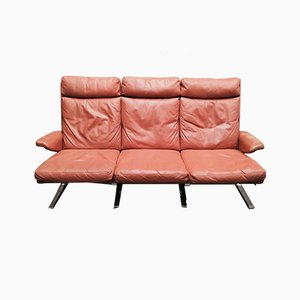 Mid-Century Leather Couch by Reinhold Adolf for Cor, 1960s