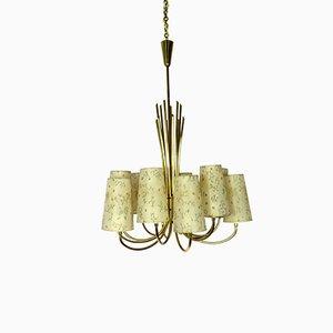 Große Deckenlampe aus Messing von J.T. Kalmar für Kalmar, 1950er