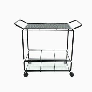 Vintage Metal Bar Trolley, 1980s