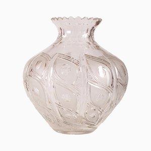 Vase Vintage en Cristal de Bohème, 1971