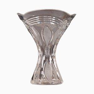 Jarrón vintage de cristal, años 70
