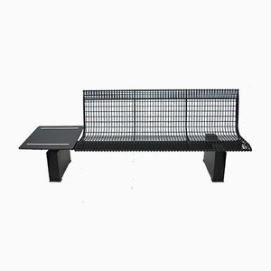 Vintage Steel Waiting Room Bench by Centro Progetti Tecno for Tecno, 1980s