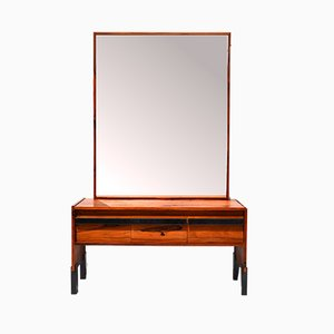 Mid-Century Rosewood Dressing Table with Mirror from Glas & Trä