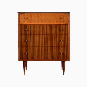 Brass & Teak Dresser from Uniflex, 1960s