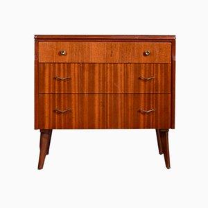 Mid-Century Brass & Teak Dresser, 1960s