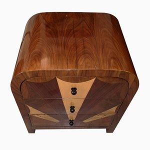 Vintage Art Deco Mahogany Dresser, 1970s