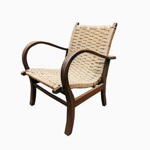 Sessel mit Gestell aus Eiche, 1960er
