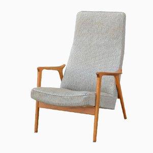 Vintage Scandinavian Oak Armchair, 1970s