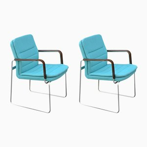 Tubular Steel Armchairs, 1970s, Set of 2