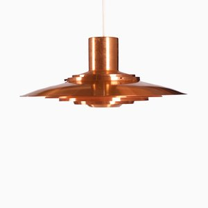 Brass Plated Ceiling Lamp by Preben Fabricius & Jørgen Kastholm for Nordisk Solar, 1964