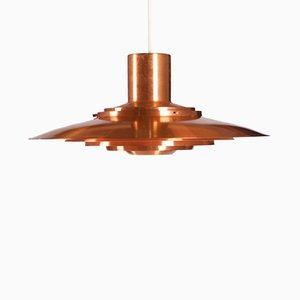 Lampada da soffitto in ottone di Preben Fabricius & Jørgen Kastholm per Nordisk Solar, 1964