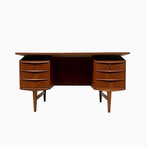 Mid-Century Danish Teak Freestanding Desk, 1960s