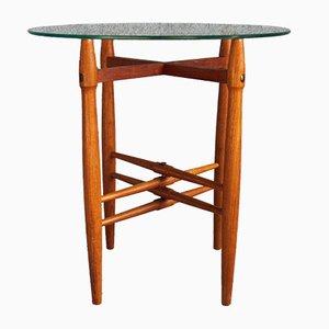 Table d'Appoint Vintage en Verre par Poul Hundevad pour PJ Møbler, 1950s