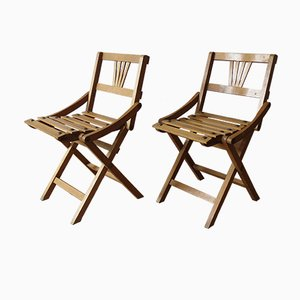 Mid-Century Beech Children's Chairs from Sfinx Filakova, 1950s, Set of 2