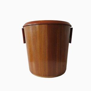 Papelera escocesa Mid-Century de caoba de Drummond Woodware, años 50