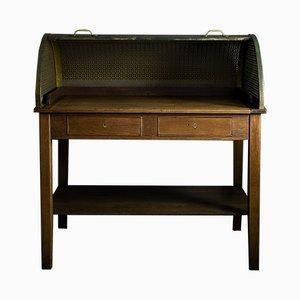 Deutscher Vintage Schreibtisch aus Metall & Holz, 1920er