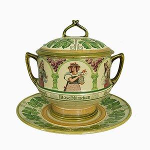 Set da tavola Art Nouveau in ceramica di Mettlach, Germania